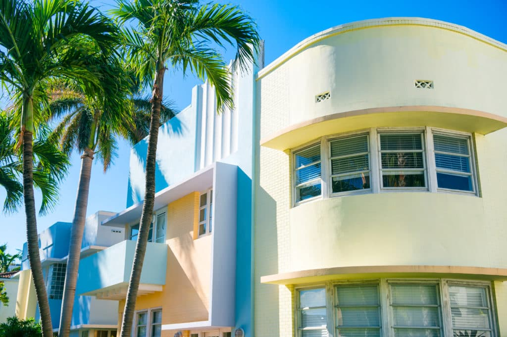 Art Deco Histoirc District in Miami