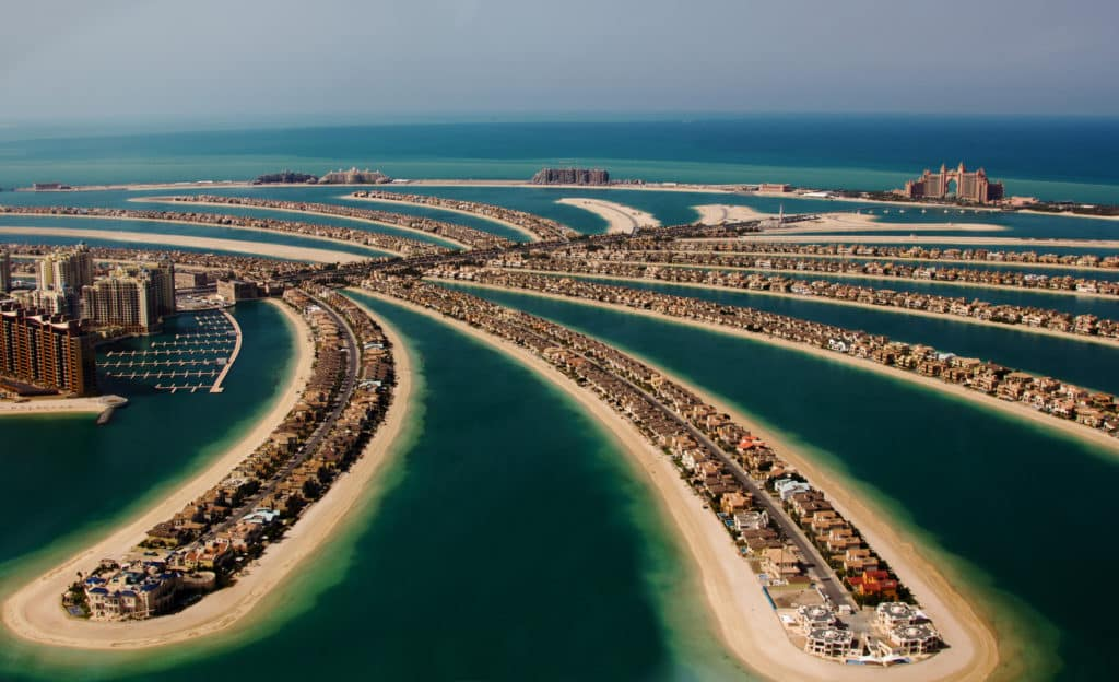 The Palm Islands in Dubai