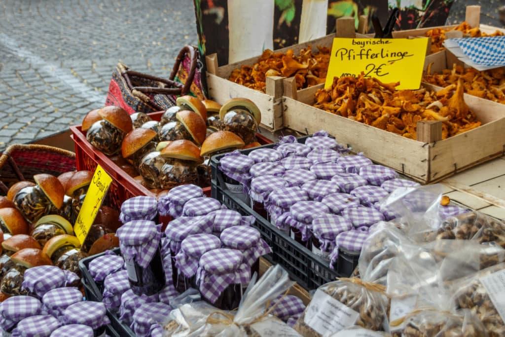 Der Vikutalienmarkt im Zentrum Münchens
