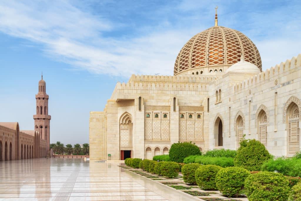 die Große Sultan-Qabus-Moschee in Oman