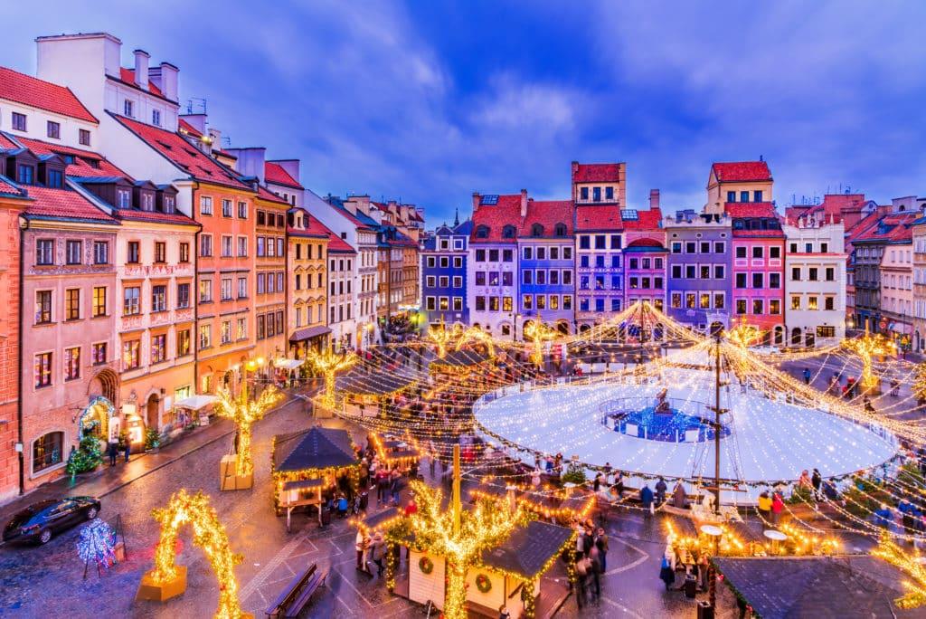 Weihnachtsmarkt: in Warschau