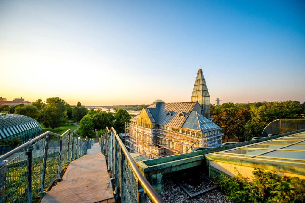 Ausblick vom Dachgarten der Universität in Warschau