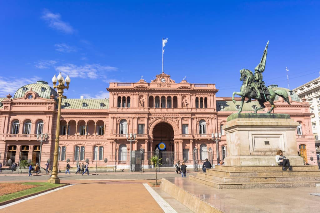 """Präsidentenpalast """"Casa Rosada"""" in Buenos Aires"""